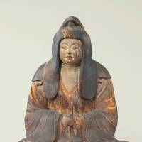 Sitting on both sides: Seated female deity (9th century), Important Cultural Property. | MATSUNOO TAISHA SHRINE, KYOTO