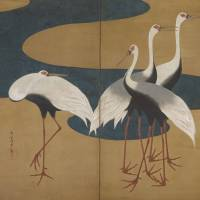 Suzuki Kiitsu's 'Cranes' (19th century) | THE FEINBERG COLLECTION
