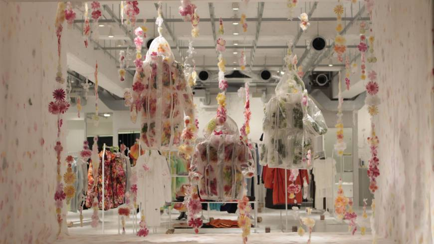 Flower power: The Final Home installation as it originally appeared at the brand's Tokyo main store.