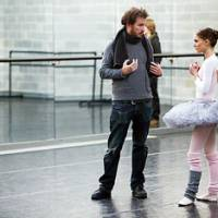 Dancing with the stars: Director Darren Aronofsky speaks with Portman on the set of 'Black Swan.'