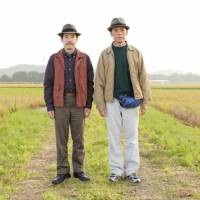 Fine and dandy: Sanada (Tomorowo Taguchi, left) is always there to lend his pal Junichi (Ken Mitsuishi) an ear as the 50-year-old struggles to live up to his goal of 'being cool' in 'Azemichi no Dandy (A Man With Style).' | (C) 2011
