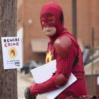 We can be heroes: Rainn Wilson seeks to vanquish evil in 'Super,' | &#169;2011 IFC FILMS.