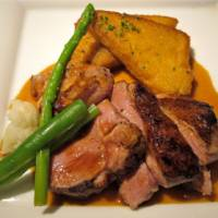 Grilled lamb with polenta