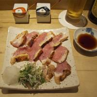Torishiki mostly serves chicken, but its grilled and sliced duck breast goes perfectly with beer or wine.
