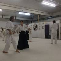 People practice aikido at a dojo in Portland, Oregon. | KRIS KOSAKA