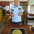Monja-yaki restaurant owner Minoru Maruyama