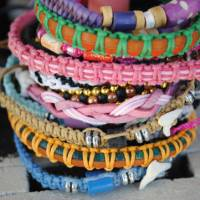 Misanga, or rope bracelets, are popular on the beach. | AMY CHAVEZ
