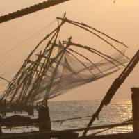 Sunset sight: The massive Chinese nets at Fort Cochin harbor have caught the eye of many a photographer. | JEFF KINGSTON PHOTOS