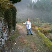 Amy Chavez on the Shikoku Pilgrimage trail. | PAUL HOOGLAND
