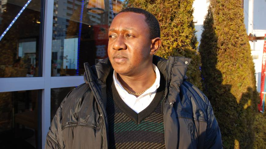 Freedom, of sorts: Ssentamu speaks with  The Japan  Times in Nagoya in February. 'I must say, my detention in Japan was a worse experience than prison in Uganda,' he said. 'It changed me. I'm not the same person as I was before.'