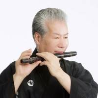 Noteworthy: Tosha Meisho plays his favorite noh flute that he has now been using for 40 years. | NHK ENTERPRISES/KOZO MASUDA