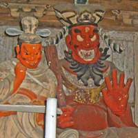 Hot stuff: Emma, the king of hell, depicted here in a statue at Saimyoji temple not too far from Mashiko's main Jonai-zaka thoroughfare, appears to relish his work, guffawing as he judges sinners and consigns them to a suitably torturous niche in his toasty underworld.