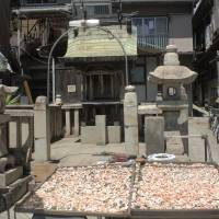 Local delicacies: Prawns put out to dry in Tomonoura's atmospheric temple quarter.