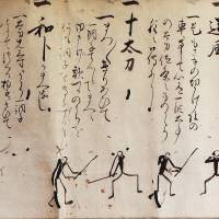 Ingrained tradition: Part of an ancient scroll describing Yagyu Shinkage Ryu swordsmanship. | ALON ADIKA