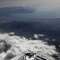 Cultural asset: Mount Fuji, which will likely be added to the list of UNESCO World Heritage sites next month, is seen in a file photo taken on Feb. 3, 2011. | AFP-JIJI