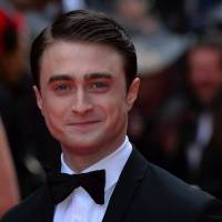 Actor Daniel Radcliffe poses on the red carpet last month at the Lawrence Olivier Awards in London. | AFP-JIJI