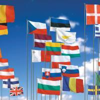 Flying colors: The national flags of the 27 current members of the European Union European union