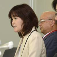 Remedial alternative: Sachiko Kishimoto, head of the Oocyte Donation Network, speaks at a news conference Monday at the heath ministry. | KYODO