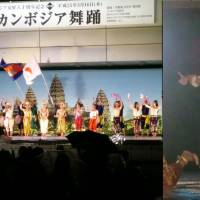 Traditional Cambodian dance, including the Apsara (right), are performed in Tokyo on May 16. | CHIHO IUCHI