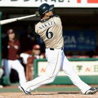 Fighters' Nakata smacks three home runs in rout over Eagles