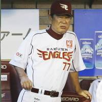 Old school: Senichi Hoshino, manager of the Rakuten Eagles, admits he has used corporal punishment on players during his long career in Nippon Pro Baseball. | KYODO