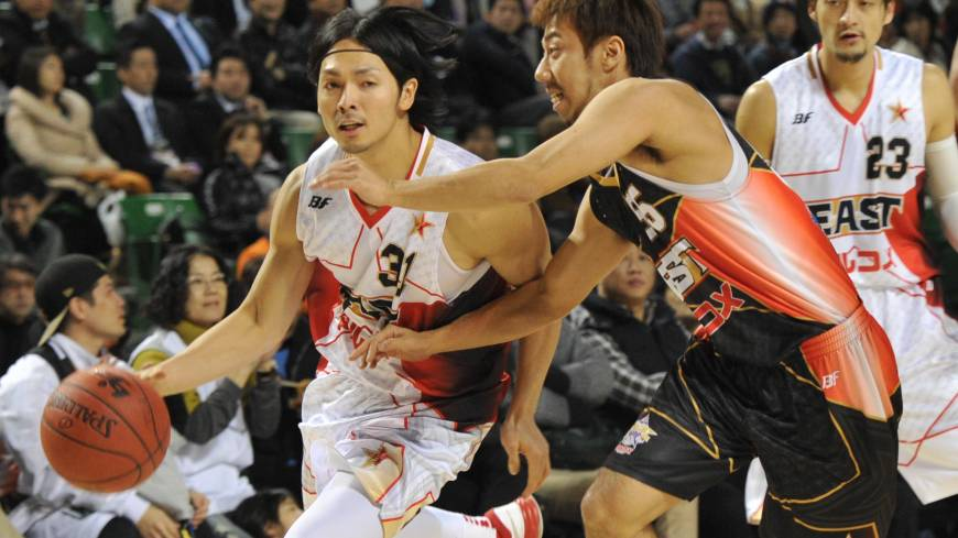 Aiming for a title: Toyama Grouses standout Masashi Joho (31) and his teammates take on the visiting Chiba Jets this weekend in the first round of the bj-league playoffs.