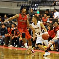 Key performer: Yokohama B-Corsairs point guard Kenji Yamada, seen in a file photo from October 2011, was second on the team in steals and assists this season. He started all 52 games in the backcourt. | YOSHIAKI MIURA