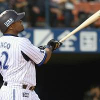 Are you ready?: Tony Blanco hit 18 home runs during his first 38 games for Yokohama. | KYODO