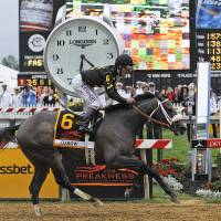 Triple Crown drought continues as Oxbow upsets Orb