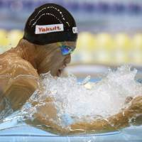 Kitajima claims victory in 100-meter breaststroke at Japan Open
