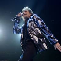 Can't get no satisfaction: Rolling Stones frontman Mick Jagger performs in Los Angeles on Friday. | AFP-JIJI