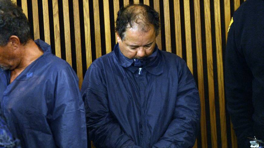 Taken: Ariel Castro is arraigned Thursday at Cleveland Municipal Court for the kidnapping of three women in the city. He faces charges over the abduction and rape of the three women he held in his home, one for over a decade.