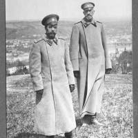 Czar and commander: This photo from the Zlatoust museum shows Russia's last czar, Nicholas II (left), and Grand Duke Nicholas Nikolaevich, commander of the Russian armed forces in World War I, posing for a photo at an undisclosed location in Russia in April 1915. | AFP-JIJI