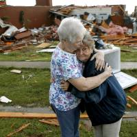 Tornadoes level homes in Oklahoma; one dead