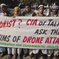 Anger: Pakistanis rally in Islamabad against U.S. drone attacks on their villages along the Afghanistan border in December 2010. | AP
