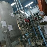 Gauging progress: An Iranian technician works at the Isfahan uranium conversion facility in 2007. | AFP-JIJI