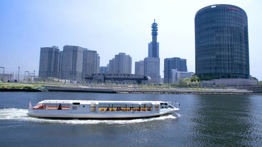 In addition to land transportation, journeys by sea are also available in Yokohama, and the Sea Bass offers regular ferry service with great views of the city.