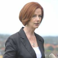 Aussie ire: A politician in Australia has apologized to Prime Minister Julia Gillard for a dish at one of his fundraisers that was named after her in a sexist way. | AFP-JIJI