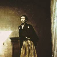 It's all in the image: An original glass-plate photograph of the 19th-century samurai Sakamoto Ryoma, whose historical life and murder have recently stirred much of Japan's imagination. | COURTESY OF THE EDO-TOKYO MUSEUM