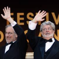 Last crusade: Director Steven Spielberg (left) and producer George Lucas | AFP-JIJI