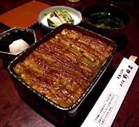 Unaju -- grilled eel on a bed of rice