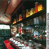 It's not just the drinks that are served up in glasses at L'Atelier de Joel Robuchon