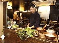 At Gesshinkyo, Toshio Tanahashi (above) lives and cooks his shojin ryori philosophy that 'vegetables are genius.'