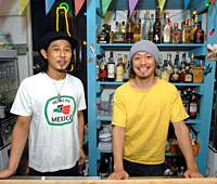 Owner Hideaki Arima with chef Masanari Abe.