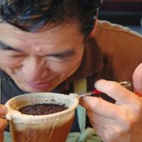 Filtered flavor: Seiichiro Murayama uses a nel drip to brew his Fouquet's blend at Cafe Fouquet's in Futako Tamagawa, Tokyo.