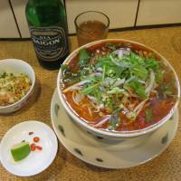 Hot stuff: Bistro Authentique has a tiny floor space but a substantial menu, including spicy bun bo hue noodles.