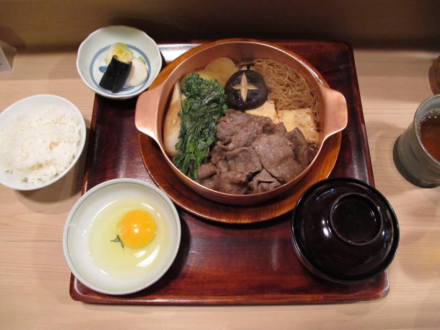 Tastes like a bargain: Though an evening at exclusive Moto-Akasaka restaurant Yoshihashi will likely set you back ¥20,000 a head, its lunch menu offers sukiyaki and all the trimmings at just ¥2,100.