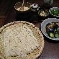 Old-style noodles: The menu at Kamachiku is short but sweet, with one option being zaru udon — cold noodles with a dipping sauce and all the trimmings. | ROBBIE SWINNERTON