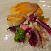 Roast scallop with endive and pesto | ROBBIE SWINNERTON