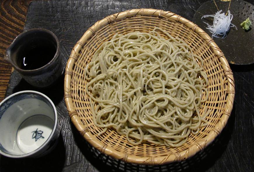 The long and thin of it: Noodle-master Masaaki Narutomi makes his soba from 100 percent buckwheat flour.